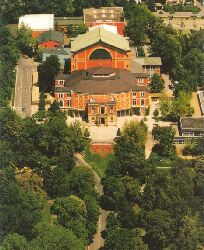 Aerial view of the Festspielhaus.
