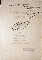 Fanciulla signed vocal score, click for larger image